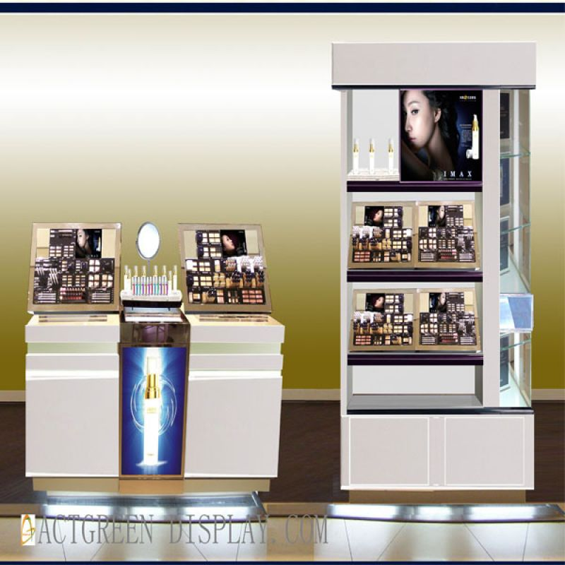 kitchen cabinets premade cosmetics make up skincare counter amp wall cabinet display 3180