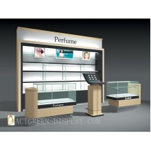 Perfume Counter & Wall cabinet Display Stand Set