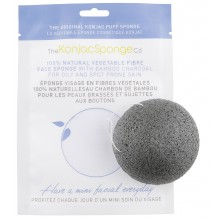 Konjac Facial Sponge with Bamboo Charcoal