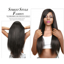 Brazilian Straight 13x4 Lace Frontal With Human Hair 3Bundles