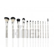 Metallic Handle Cosmetic Makeup Brush Set