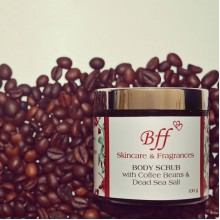 BODY SCRUB with Coffee Beans & Dead Sea Salt