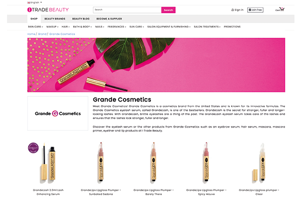 ONLINE B2B BEAUTY TRADE PLATFORM