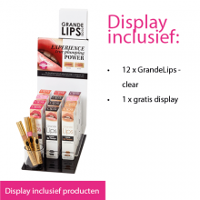 Display starter kit GrandeLips 12 pieces - clear