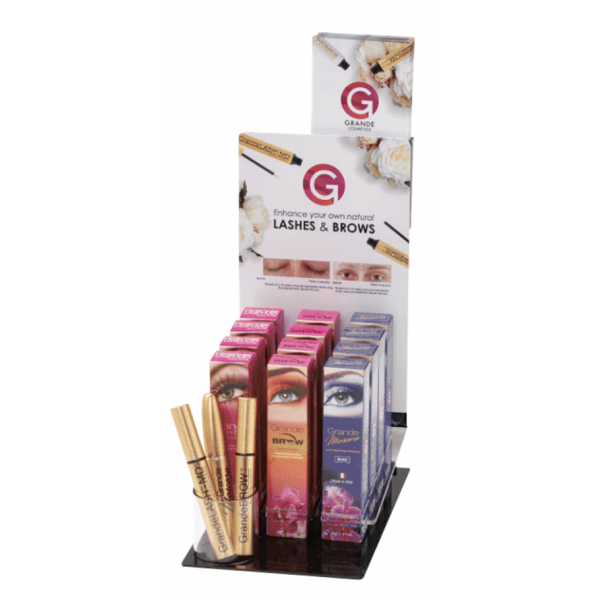 Display starterspakket Grande Cosmetics lashes & brows incl. 12 producten
